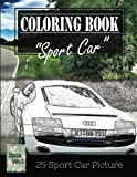 img - for Sportcar Greyscale Photo Adult Coloring Book, Mind Relaxation Stress Relief: Just added color to release your stress and power brain and mind, ... and grown up, 8.5