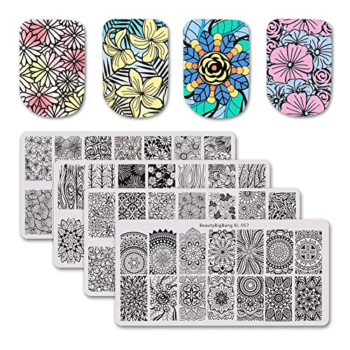BEAUTYBIGBANG Stamping Plate Flowers Theme product image