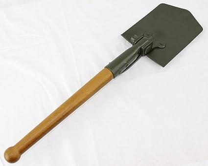 German Army Surplus Shovel Long Wooden Handle
