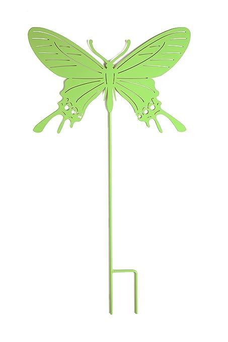 Amazon.com: Jumbo Flying Mariposa Silueta metal Yard Art ...