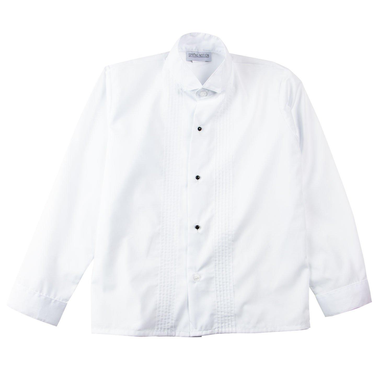 Spring Notion Big Boys Modern Fit Tuxedo Set No Tail 6 Black