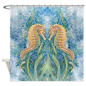 61U-Y59zQyL._SS300_ 200+ Beach Shower Curtains and Nautical Shower Curtains