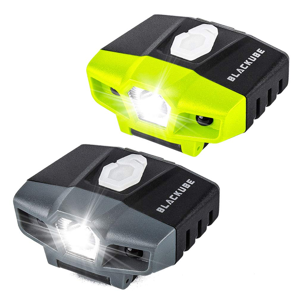 USB Rechargeable Cap Hat Light Ball Cap Visor Light A Pack or 2 Packages - Clip Headlamp Hands Free Rotatable Cree LED Portable Clip on Cap Light for Reading Hunting Fishing Running