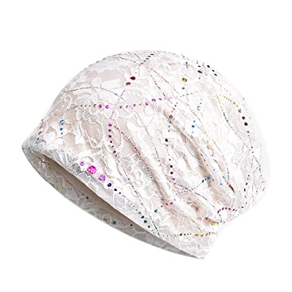 Image Unavailable. Image not available for. Color  Lace Floral Beanie Hat  ... 8bad58ef10aa