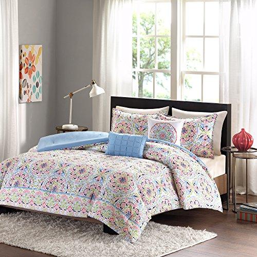 Intelligent Design ID10-740 Zoe Comforter Set Full/Queen Multi,Full/Queen (Zoe Comforter Set)