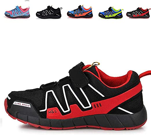 De Los Niños De Peso Ligero Y Transpirable Zapatillas De Deporte De Moda, Unisex Gancho Y Zapatos para Caminar Loop Bajo-Top De Las Zapatillas De Deporte,Rojo,26: Amazon.es: Hogar