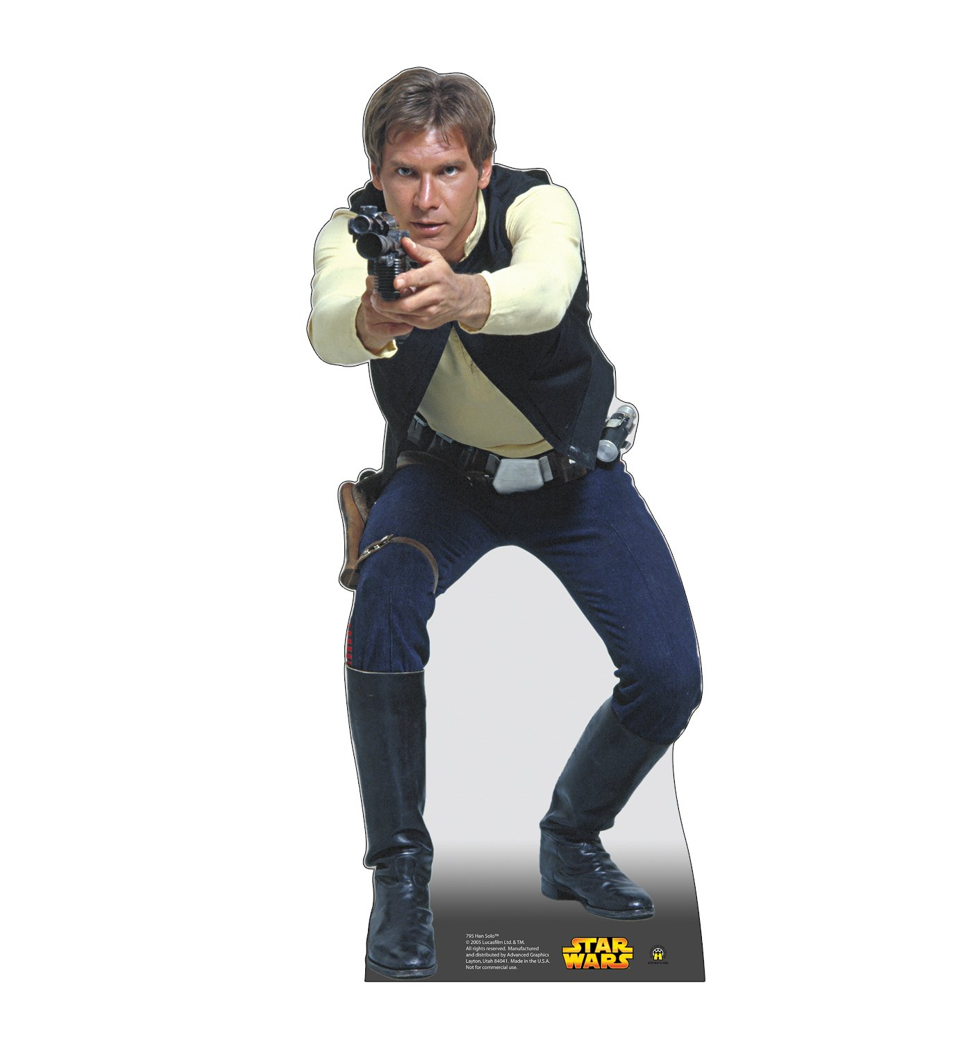 Advanced Graphics Han Solo Life Size Cardboard Cutout Standup - Star Wars Classics (IV - VI)