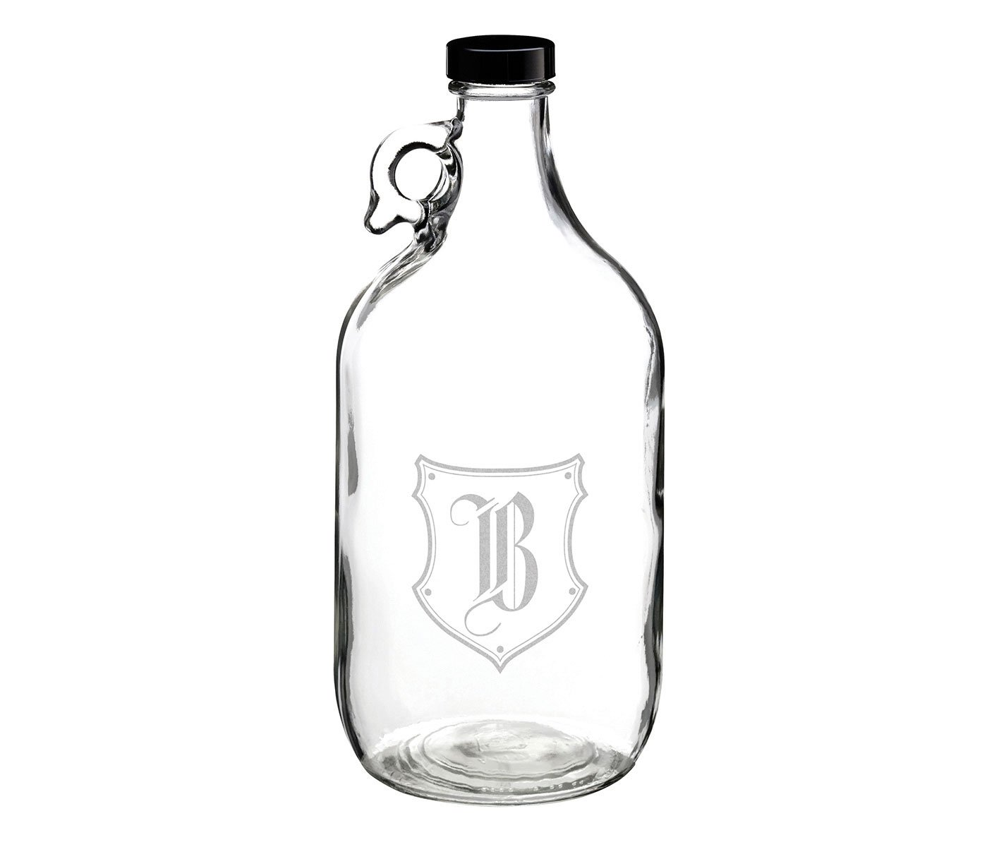 Lillian Rose Glass Growler Monogram Letter A B111 A