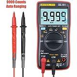 URXTRAL デジタルマルチメーター 9999高精度 電流 電圧 電流抵抗 温度 周波数 非接触電圧測定 携帯式 バックライトLED付き 12ヶ月の保証 (ZT111)