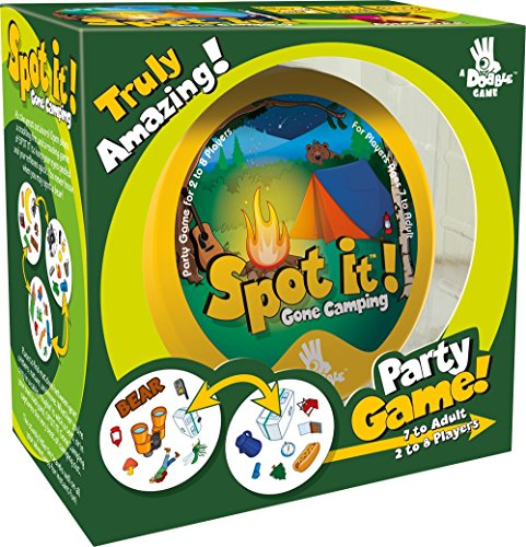 Spot It! Gone Camping Card Game, Nature Themed Card, Dice And Camp Board Games, Camp Games Kids And Adults Love