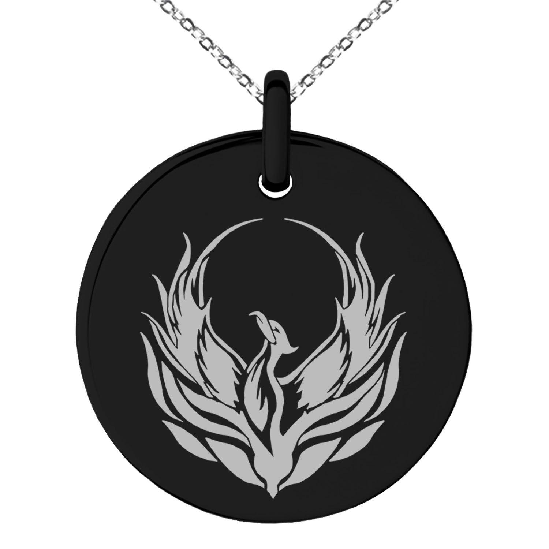 Amazon Tioneer Black Stainless Steel Greek Mythology Phoenix