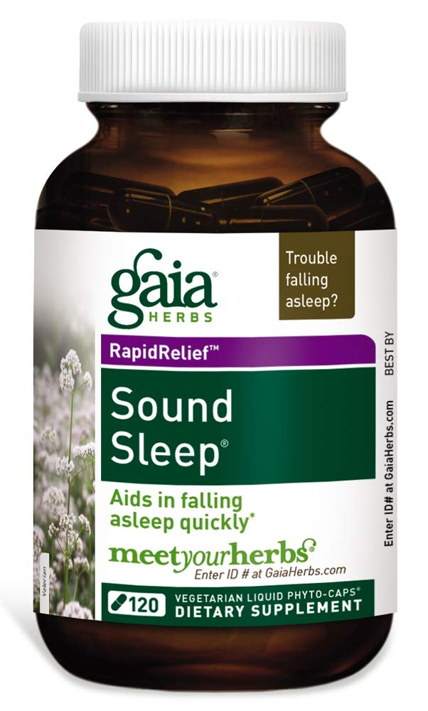 Gaia Herbs Sound Sleep, Vegan Liquid Capsules, 120 Count - Herbal Sleep Aid Promotes Relaxation & Aids in Falling Asleep Quickly, Organic Kava Kava, Valerian Root