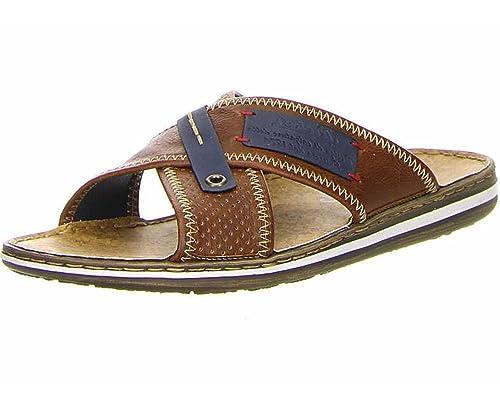 9787e33c0711 Rieker Mens Shoes 21061 Men s Sandals Clogs   Mules Leather Inner ...