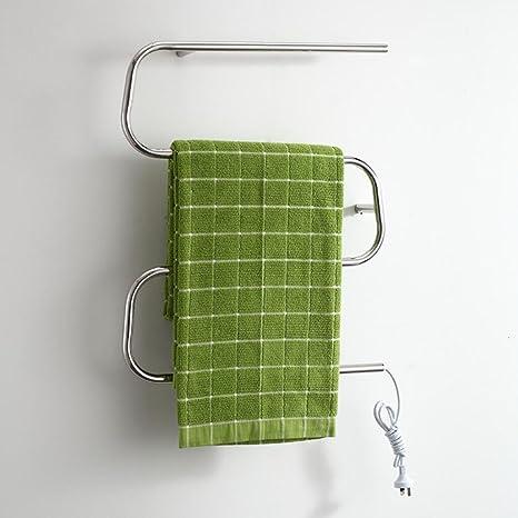 WRH-towel warmer Montado en la Pared de Acero Inoxidable eléctrico toallero/radiador Baño
