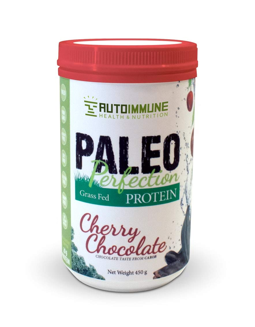 Pasture-Raised, Grass-Fed Hydrolyzed Collagen Peptides (1 Pound 30 Servings) - Paleo, Keto, Whole30, Gluten-Free Cherry Chocolate Flavor by Autoimmune Health & Nutrition