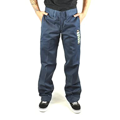 Dickies Slim Pantalon de Travail Coupe Droite Bleu Marine 873 - Bleu - XL 8328bce09e4