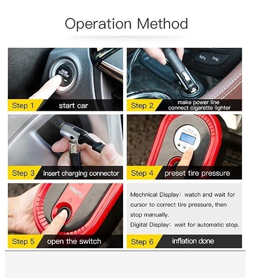 Amazon.com: SDJIEM Car Air Pump Digital Display 12V 120W ...