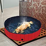 Red Pet Pool Dog Pool Swimming Pool Portable Tough and Sturdy Dia. 31.5