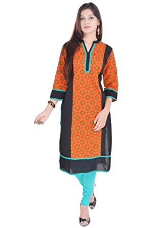 Vihaan Impex Ropa de Mujer Ropa India Vestido Largo Mujer Camisetas Mujer Manga Larga Mujer Kurti Kurta para Mujer