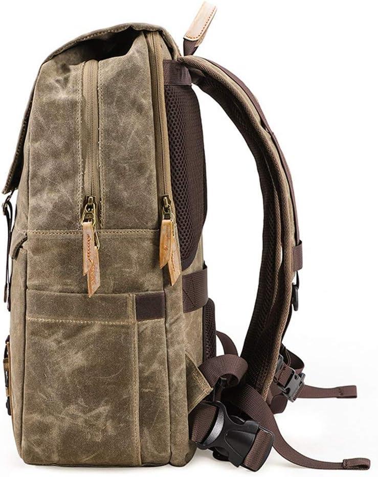 Unisex Retro Camera Backpack Vintage Canvas DSLR Photography Shoulder Bag Outdoor Casual Rucksack Hiking Travel Daypack Trendy Fashion Anti-Theft DSLR SLR Ca Stylish Camera Backpack for Photographers