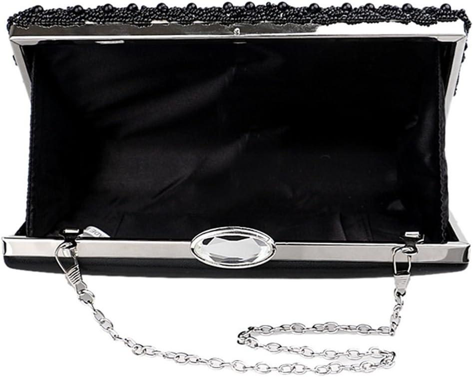RABILTY Women Flower Clutches Evening Bags Handbags Wedding Cocktail Party Bag Purse Color : Black