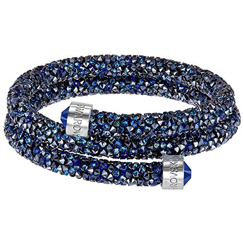 Swarovski Medium Blue Double Crystaldust Bangle from Swarovski
