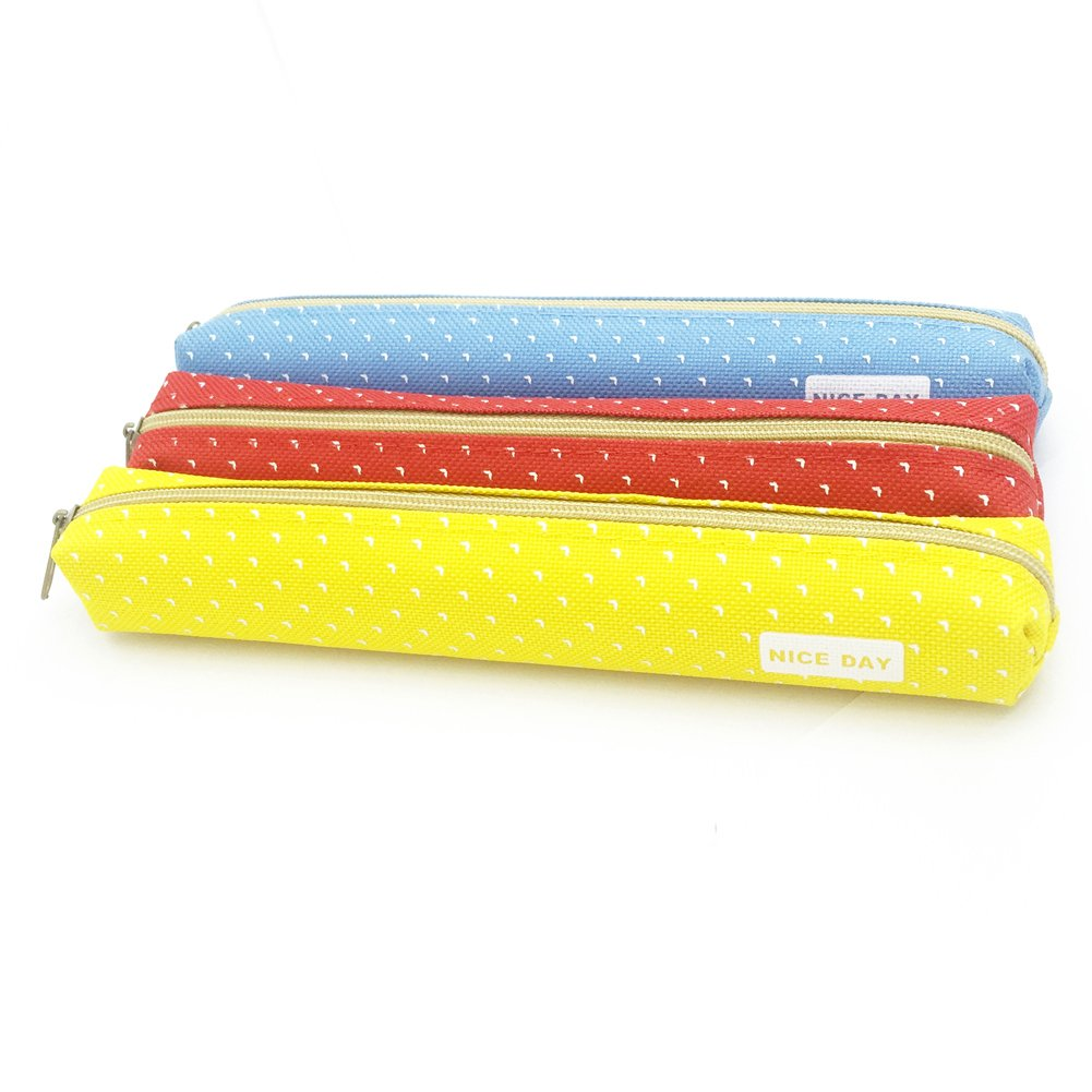 Amazon.com: Jialeey Super Slim Pencil Case 3PCS Cute ...