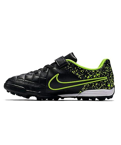 Nike JR Tiempo V4 TF, Botas de fútbol para Niños, Negro Black, 36 EU: Amazon.es: Zapatos y complementos