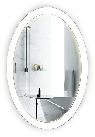 Oval Led Bathroom Mirror 20 Inch X 30 Inch Lighted Vanity Mirror Includes Dimmer
