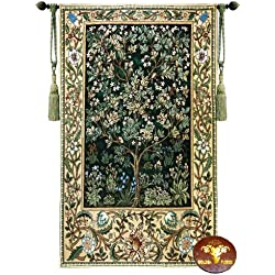 Beautiful Large Tree of Life (G) William Morris Fine Tapestry Jacquard Woven Wall Hanging Art Decor