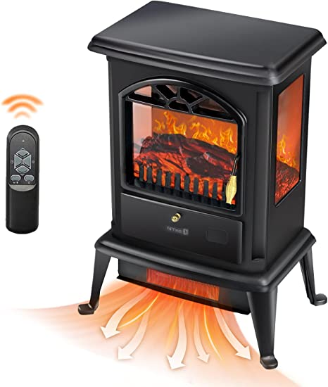 Beyond Breeze Electric Fireplace Heater 23 Freestanding Infrared Stove Heater With Realistic 3d Flame Effect Portable Indoor Space Heater With Overheating Safety System 1500w Kitchen Dining