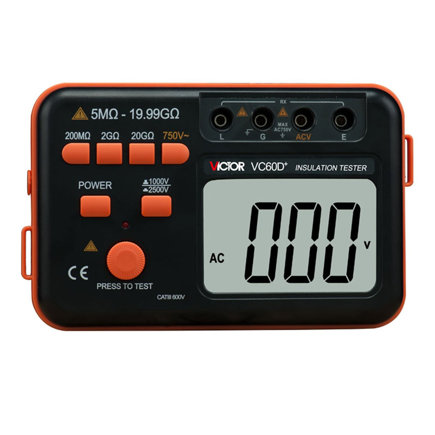 VICTOR VC60D+ Digital Insulation Tester Resistance Meter 2500V Voltage Test