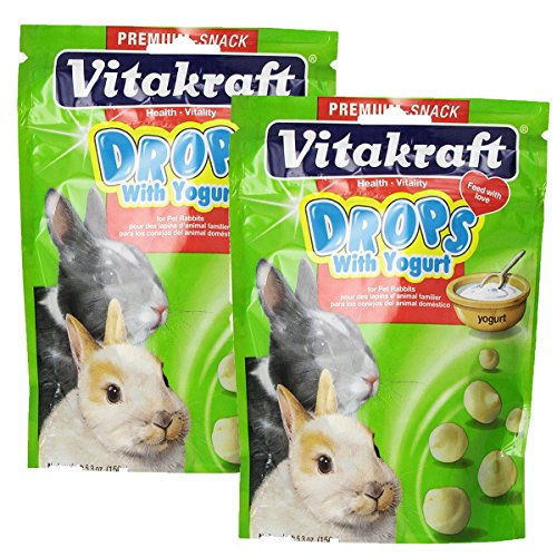 (Vitakraft Rabbit Drops and 5.3-Ounce Pouch, Yogurt Drops (2-Pack))
