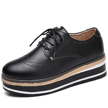 Shoe House Zapatos Mocasín De Las Mujeres, Mocasines De Plataforma, Cuñas Cómodas Zapatos De Trabajo Negro: Amazon.es: Deportes y aire libre