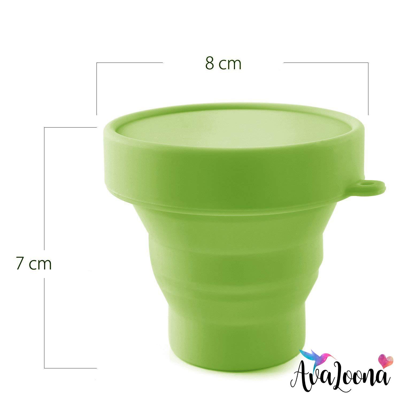 Copa Menstrual AvaLoona de Silicona de Grado M/édico rojo, peque/ño