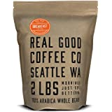 Real Good Coffee Co Whole Bean Coffee, Breakfast Blend Light Roast Coffee Beans, 2 Pound Bag