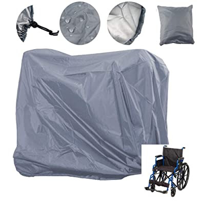 Lmeison Wheelchair Cover Waterproof, Mobility Scooter Outdoor Storage Cover Oxford Fabric Lightweight Rain Protector from Dust Dirt Snow Rain Sun Rays - 55 x 26 x 36 inch (L x W x H): Automotive