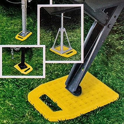Camco Stützplatten Set 4 Stück Zur Sicherung Der Kurbelstütze Wohnmobil Oder Wohnwagen Auto