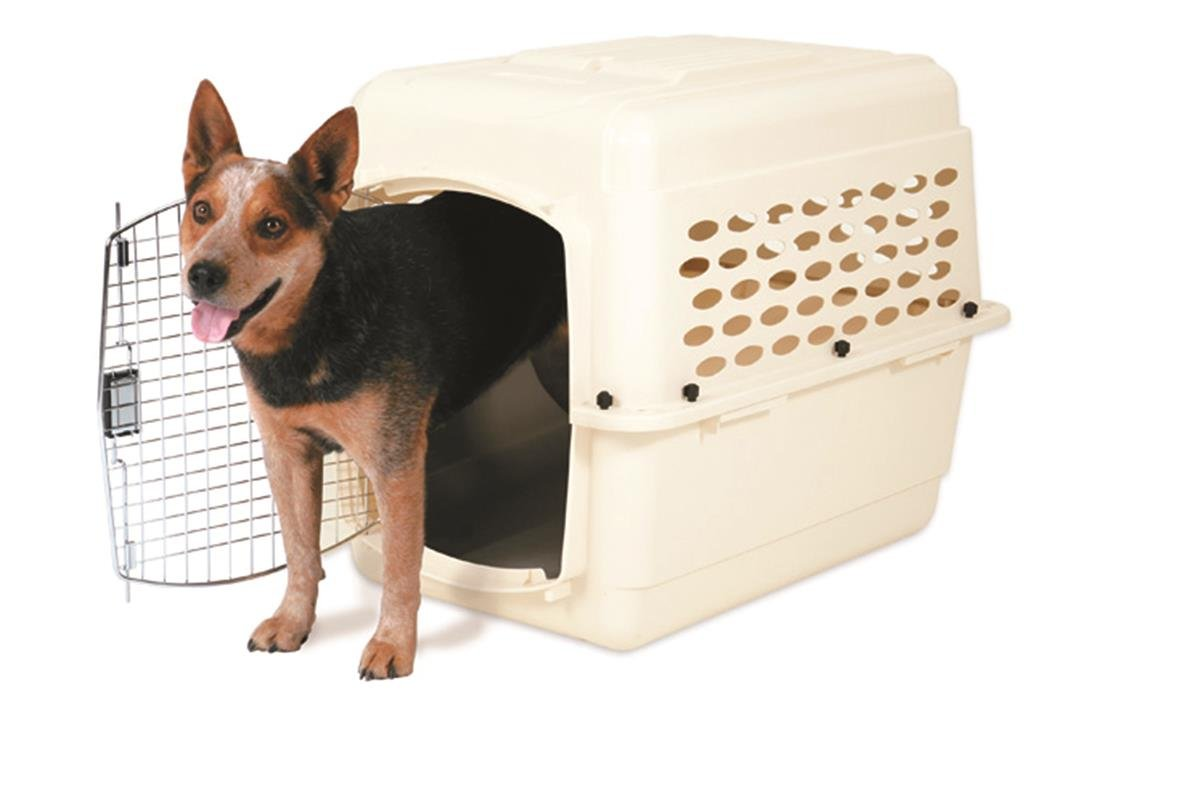 Petmate 21948 Vari Kennel Pet Carrier Bleached Linen, 30-50 lb by Petmate