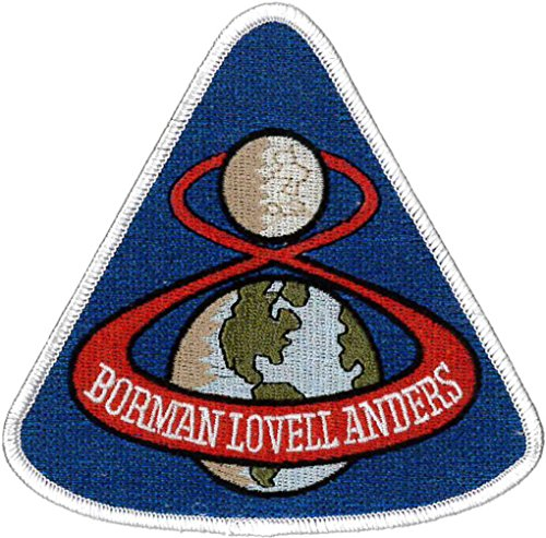 (Apollo 8 Mission Embroidered Patch 11cm x 10cm Approx)