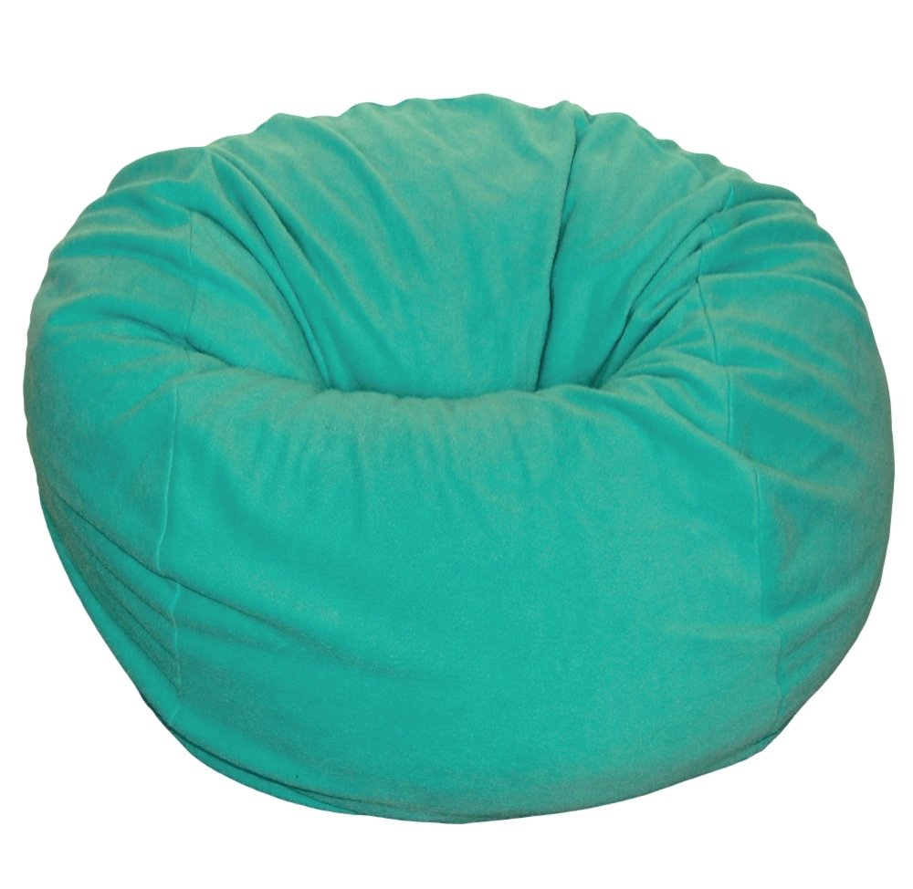 Ahh! Products Teal Turquoise Anti-Pill Fleece Washable Large Bean Bag Chair