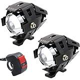 LYLLA One Mode High Beam CREE U5 LED Motorcycle Headlight, DRL Fog Driving Running Light Spotlight for ATV Truck w/ON…