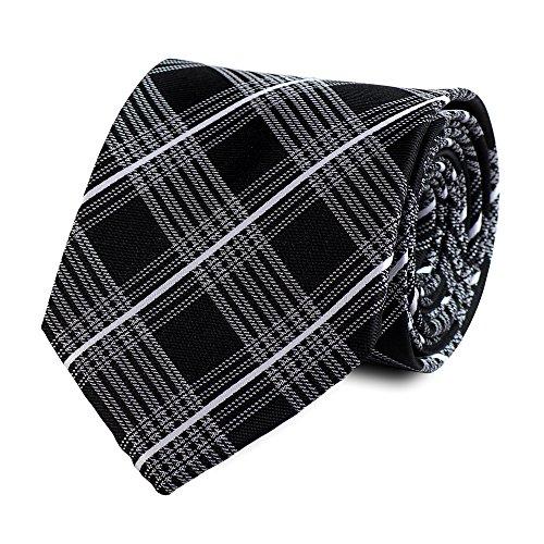 Cravate de Fabio Farini en noir gris