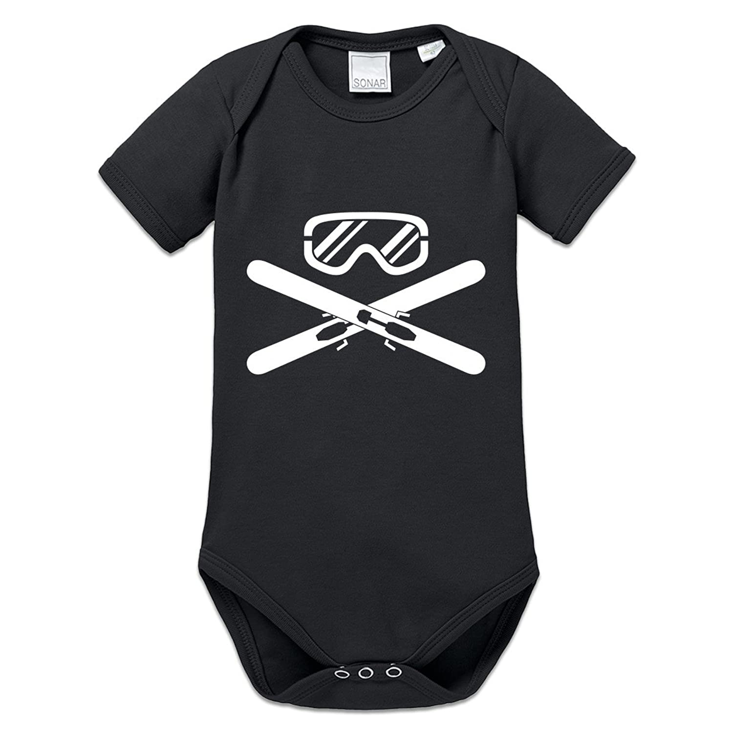 Ski Equipment Crossed Baby Strampler by Shirtcity