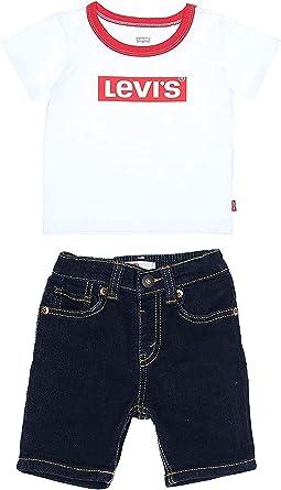 Levi S Kids Lvb Stretch Denim Short Set Juego De Pantalones Cortos Bebe Ninos Amazon Es Ropa Y Accesorios