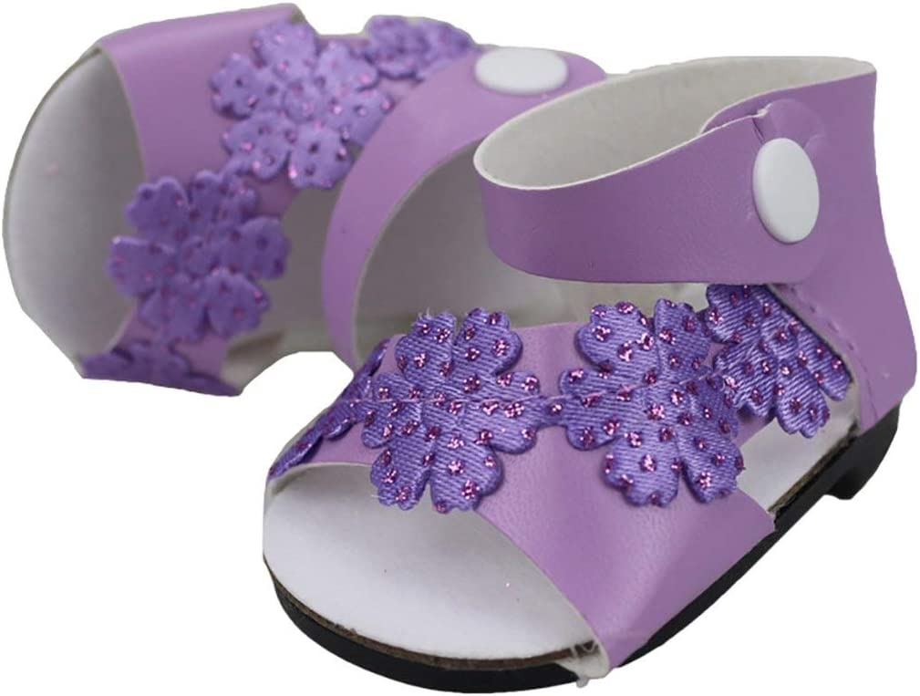 Color:Purple Garciakia Cute Purple Granular Shoes Fits for 18 Inch American Girl Doll for Baby Doll Accessories Girls Best Chirstmas Gift