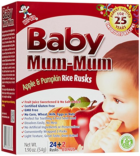 Mum Mum Rice Biscuits-Apple & Pumpkin-1.76 Ounces-6 Pack
