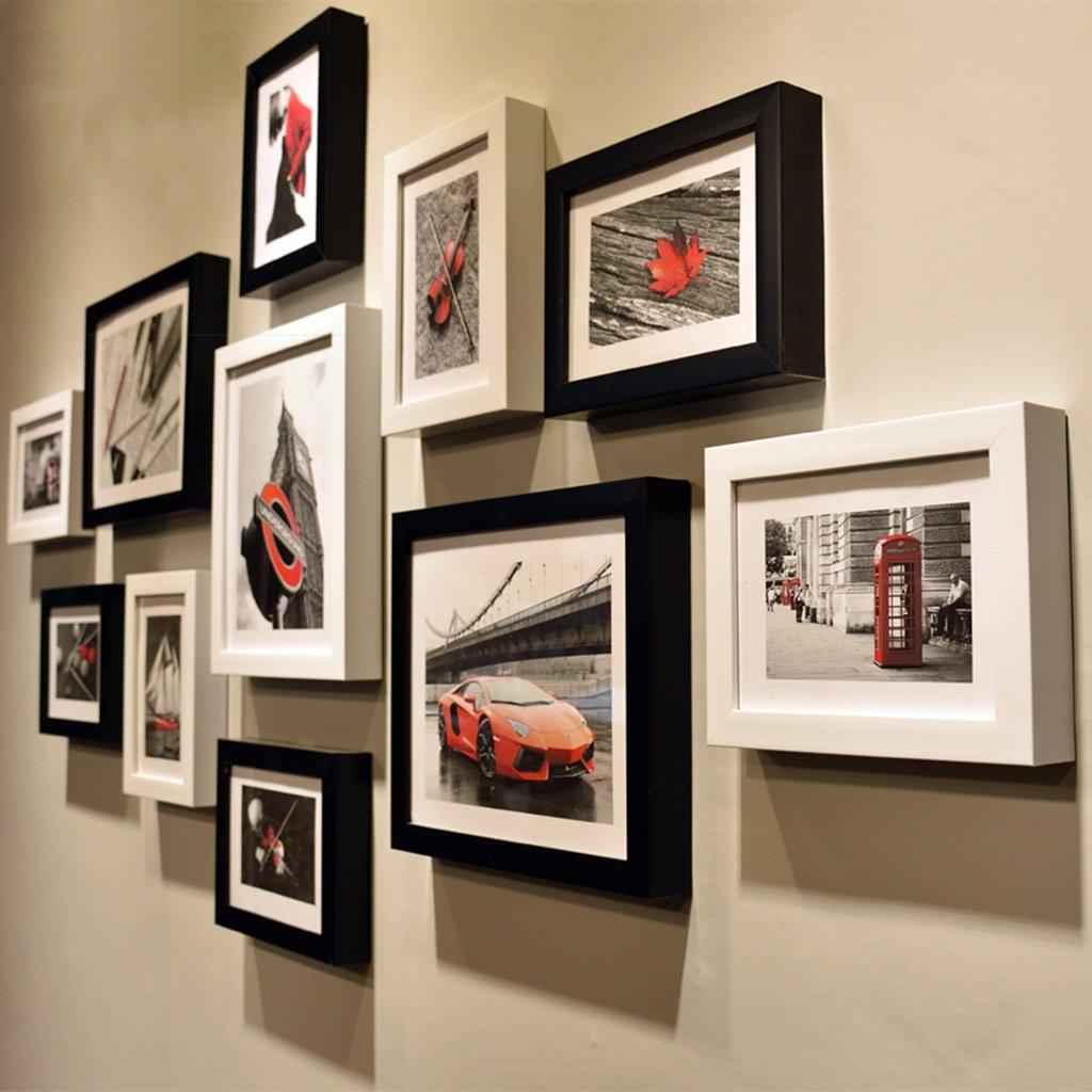 GYP 写真の壁シンプルなモダンなフレームの壁黒と白の創造的な組み合わせ写真の壁のリビングルームのフレームの壁ファッションの古典的なワイルドウォールの素晴らしいワイルド ( 色 : C )   B077NX5Q6F