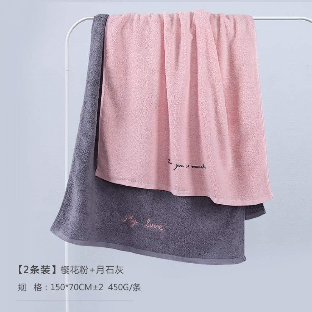 MAOJINMIAN 2 Handtücher für Männer und Frauen Baumwolle nach Weichen Cute Home Kinder große Studenten Super saugfähig