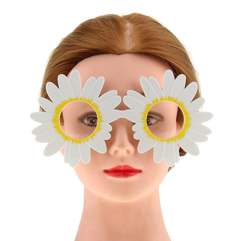 Blesiya Novelty Daisy Flower Glasses Kids Adult Costume Wedding